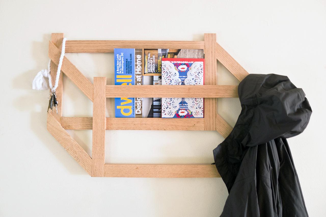 Make it Modern: DIY 3D Trompe l'oeil Coat Rack