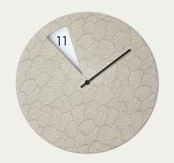 Pie Shaped Clock Reveals The Hours as They Pass in main home furnishings  Category