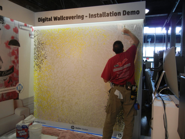 HP-Custom-Wallcoverings-6-Installing-Jill-Malek's-wallcovering