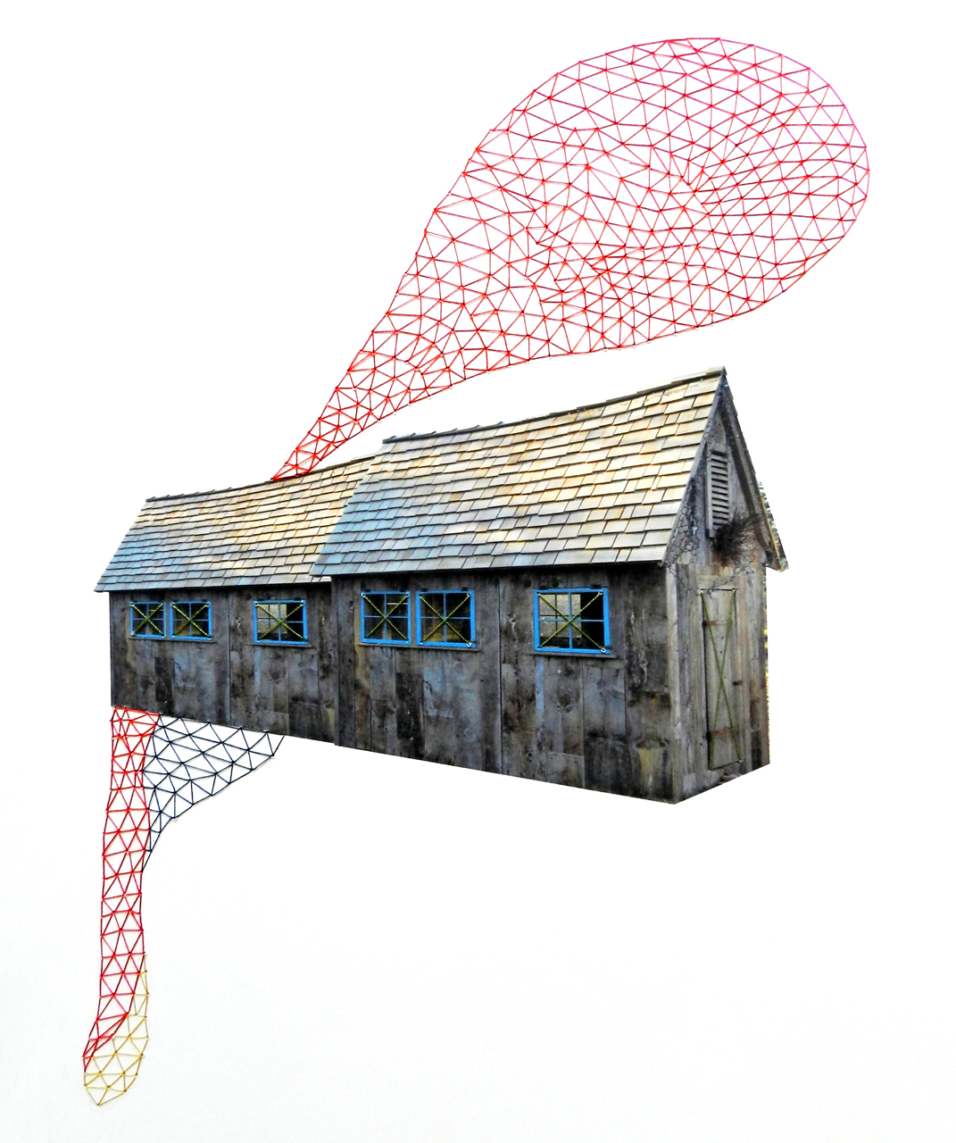 Embroidered Houses by Happy Red Fish