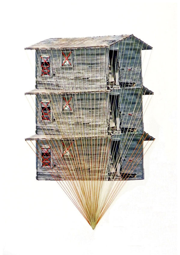 Happy-Red-Fish-10-Tower,thread-on-paper,-21x29cm,-2012-