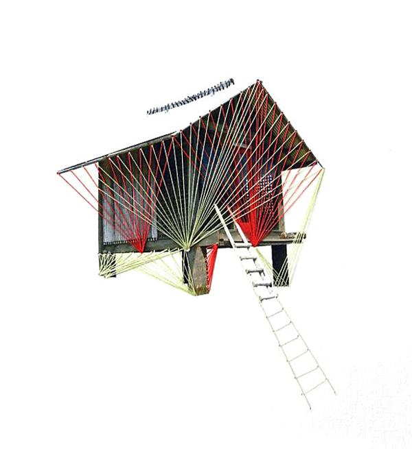 Happy-Red-Fish-5-2_Climbing,thread-on-paper,-21x29cm,-2012-