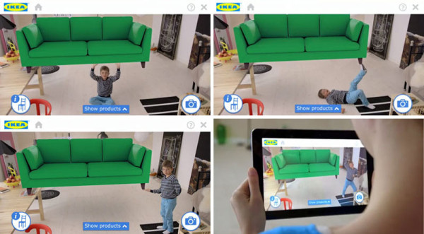 test drive ikea furniture with augmented reality app. Black Bedroom Furniture Sets. Home Design Ideas