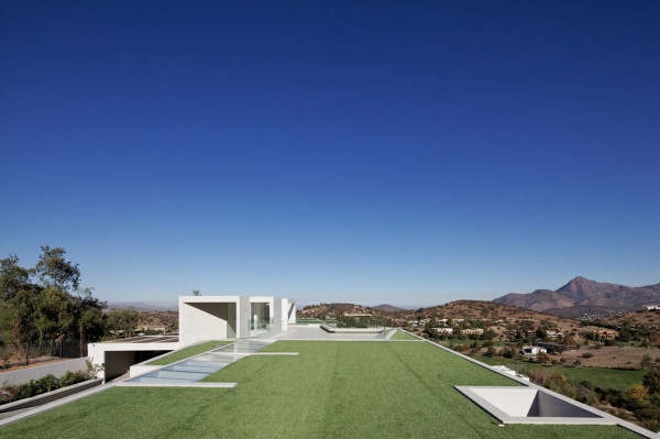 Large White Concrete House With Spectacular Views in main architecture  Category