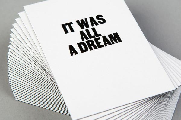 It wall all a dream