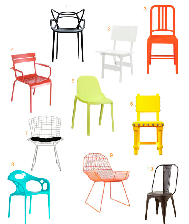 Modern Patio Furniture Table 10 colorful, modern outdoor dining chairs - design milk