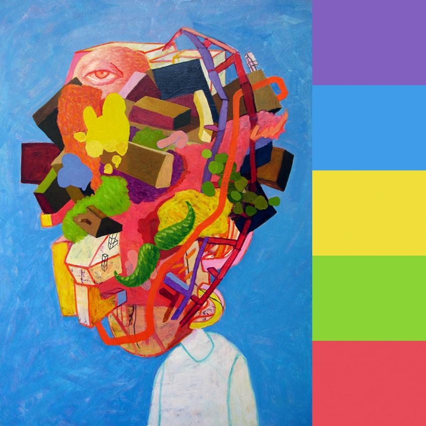 Artist David Tallitsch's Abstract Heads