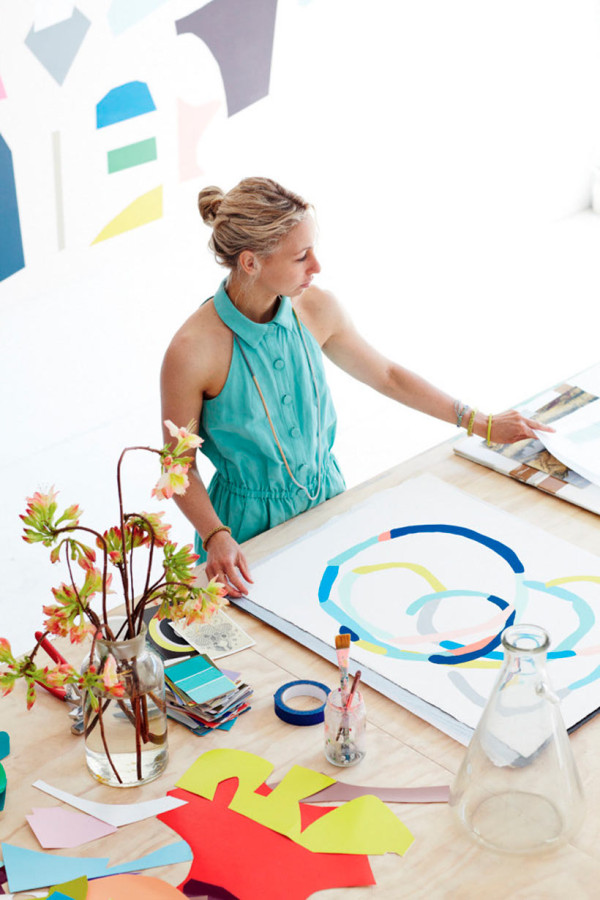 Artist Kirra Jamison at Home in main interior design  Category