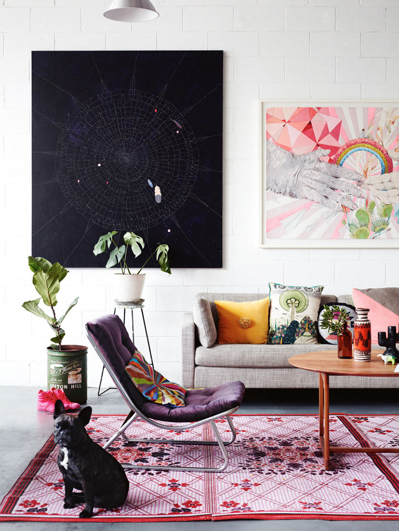 Artist Kirra Jamison at Home