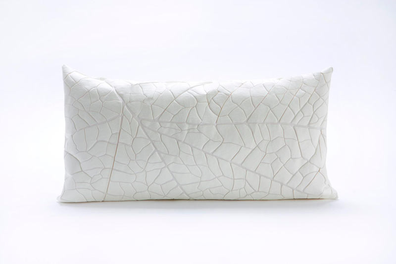 mika-barr-leaf-vein-pillow-white
