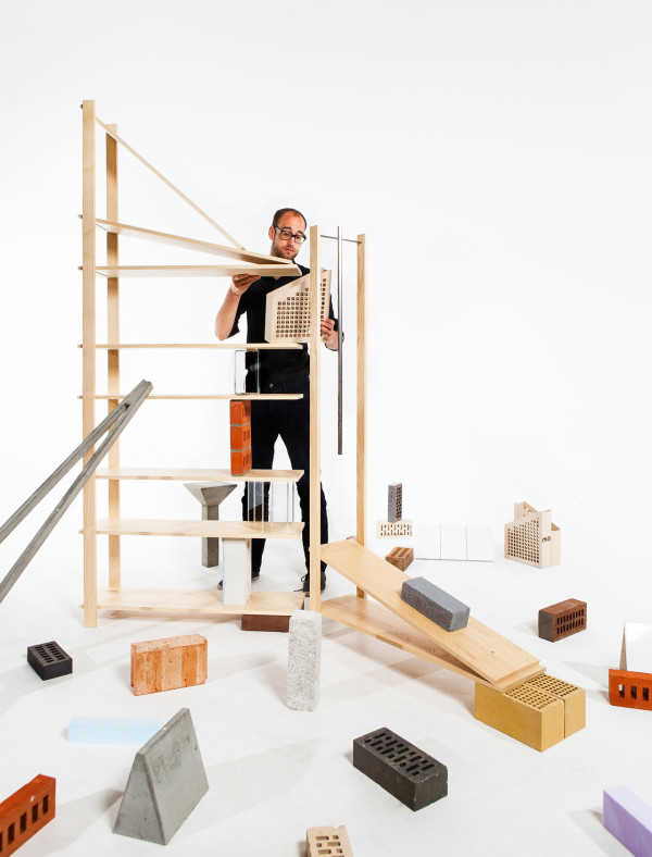 Stacking Objects To Hold Up Bookshelves by Emiel Remmelts in main home furnishings  Category