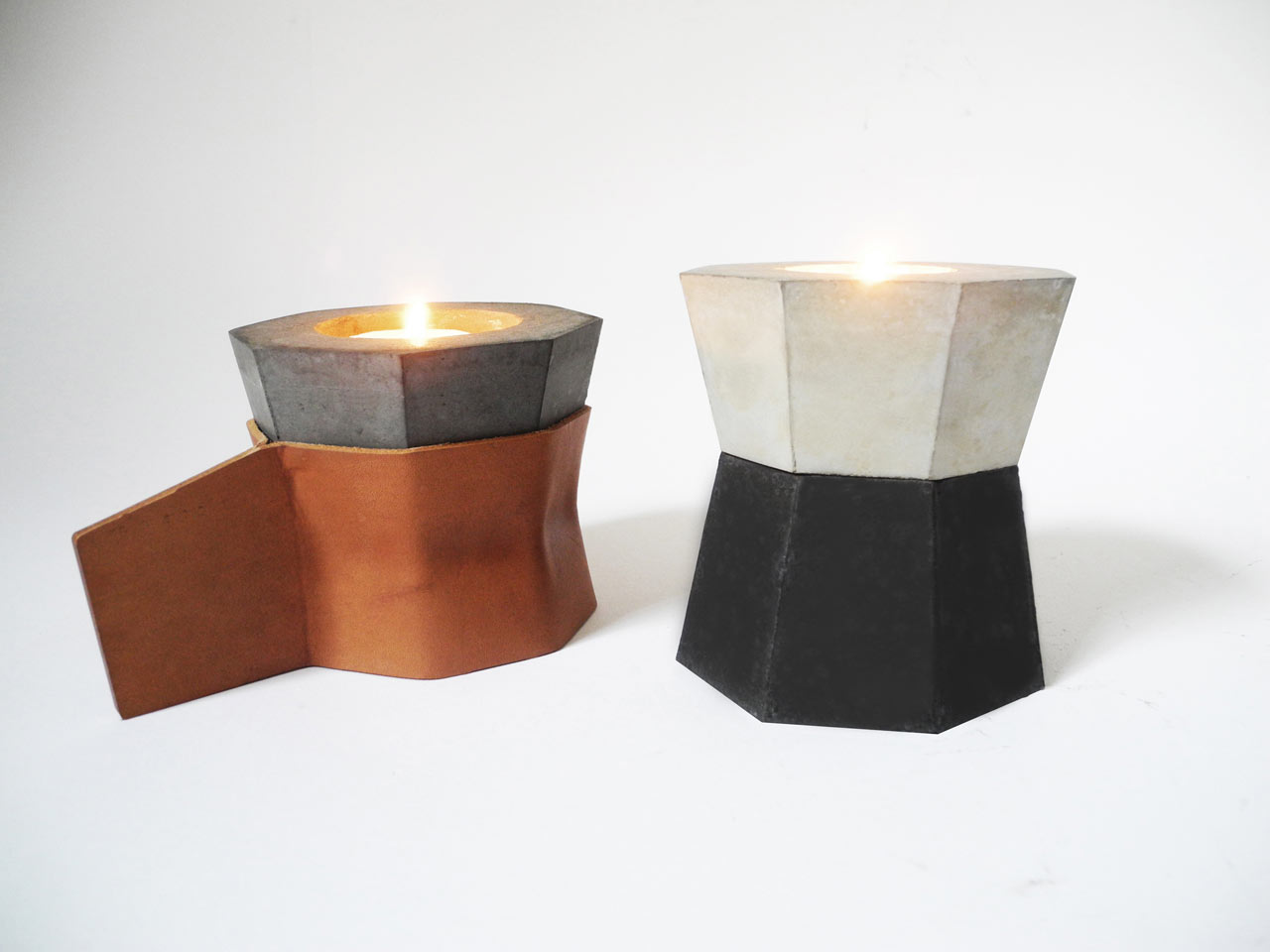 stacking-candles-concrete-leather