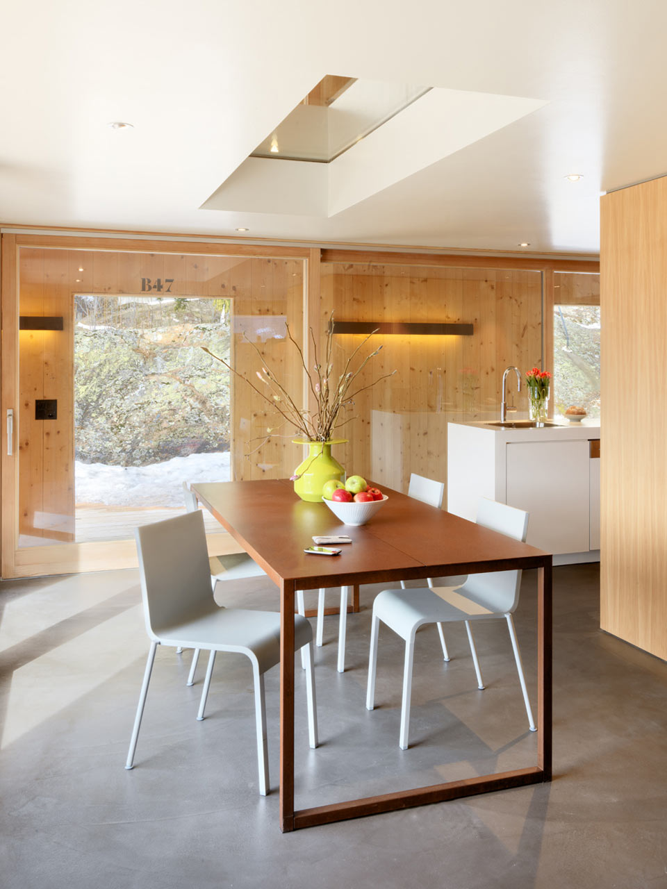 Former Army Building Becomes a Modern Mountain Home