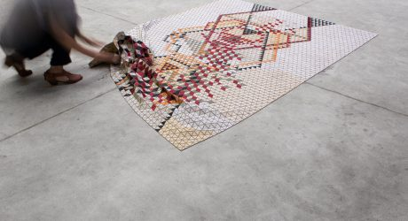 Colored Wooden Rugs by Elisa Strozyk