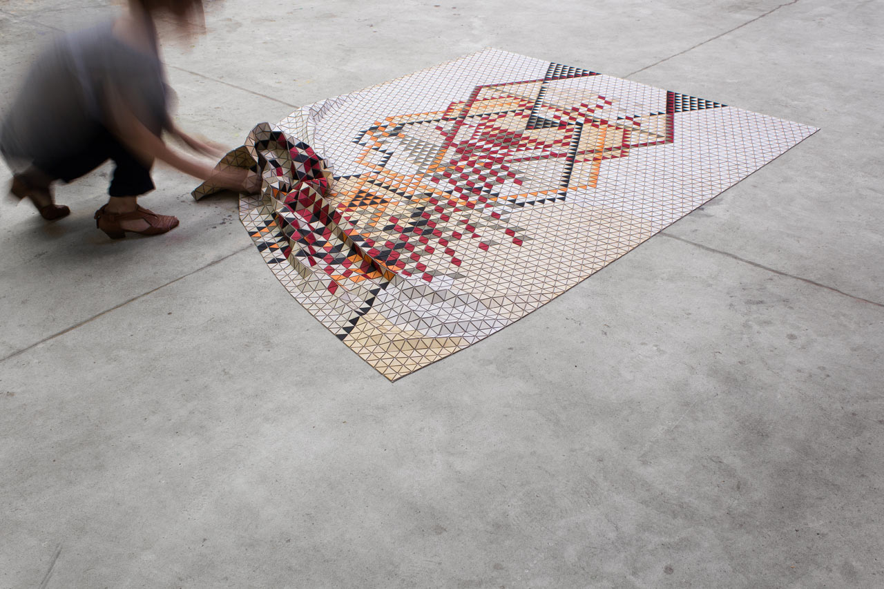 Colored Wooden Rugs By Elisa Strozyk ...