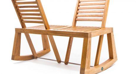Double View Bench by Chloe De La Chaise