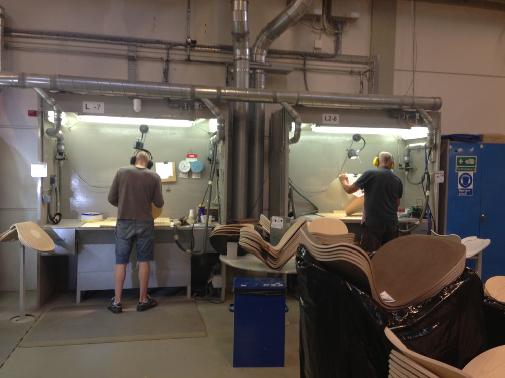 Fritz-Hansen-Factory-Denmark-10-hand-sanding