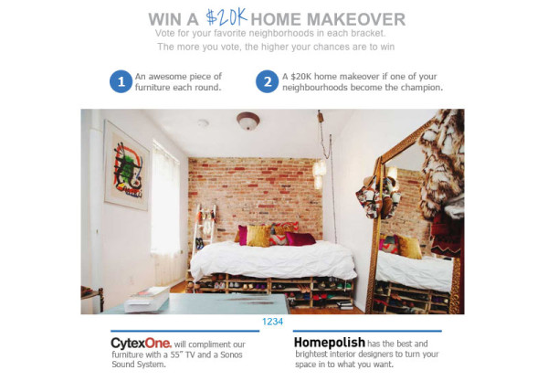 Win A Home Makeover from NYFU Worth $20K  in sponsor main home furnishings  Category