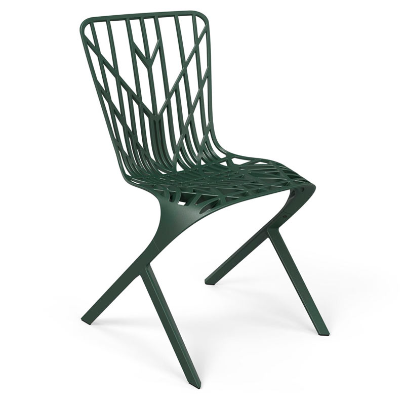 Knoll-David-Adjaye-Washington-3-Skeleton-Aluminum-Chair-Green
