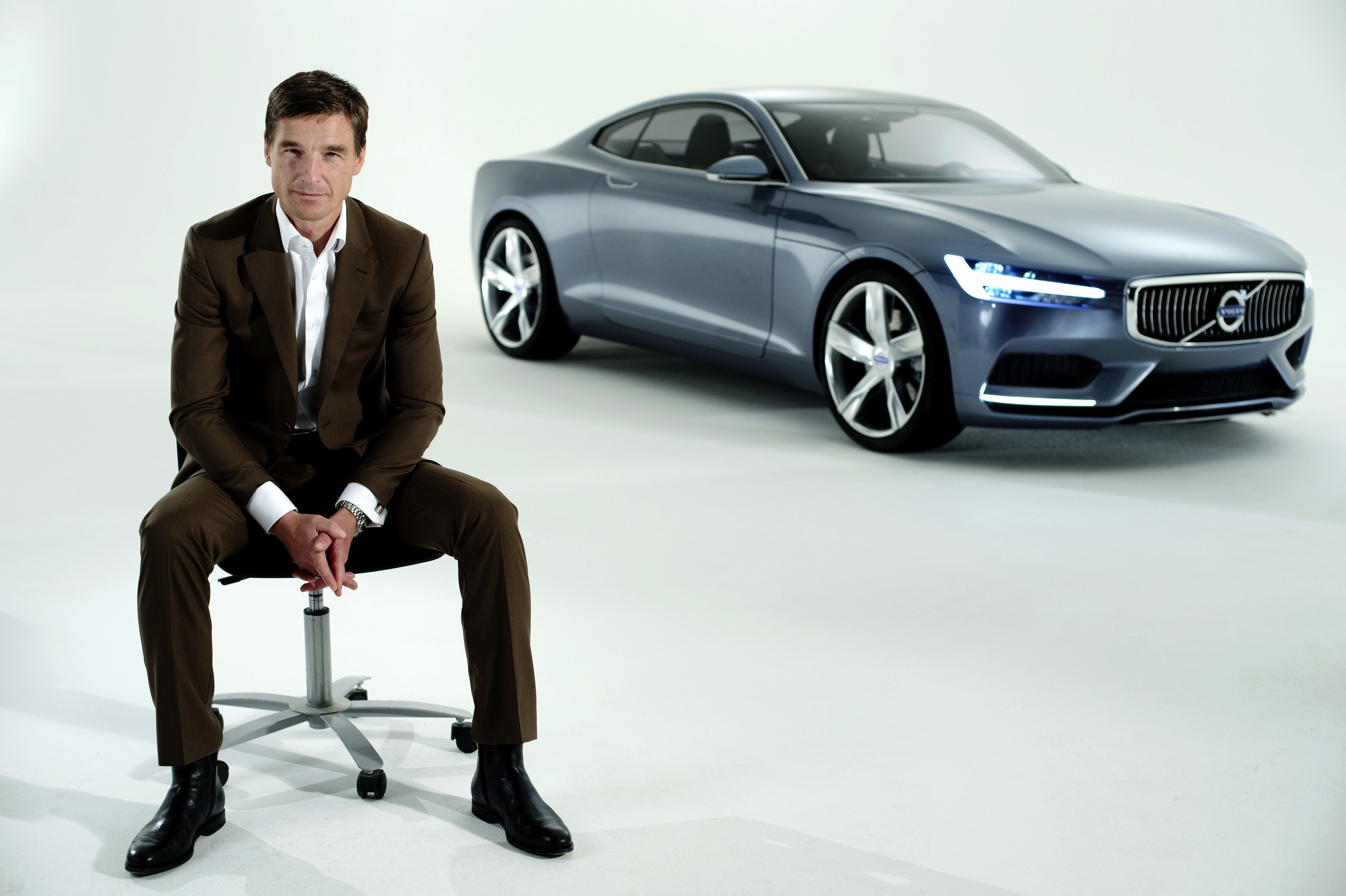 Thomas Ingenlath, Volvo's Senior Vice President of Design with the new Concept Coupe