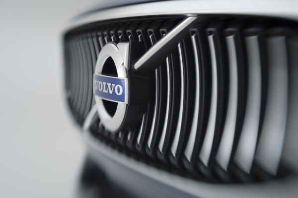 Volvo's modern interpretation of the floating grill gives nod to the classic Volvo P1800 car.