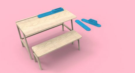 Vessel Child's Desk by Alain Gilles for Mathy by Bols