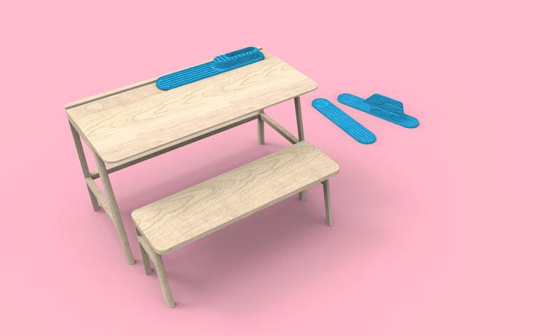 vessel childu0027s desk by alain gilles for mathy by - Childs Desk