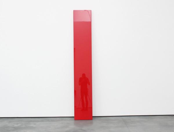 """John McCracken, """"Untitled"""", 1967 (reflecting the author)"""