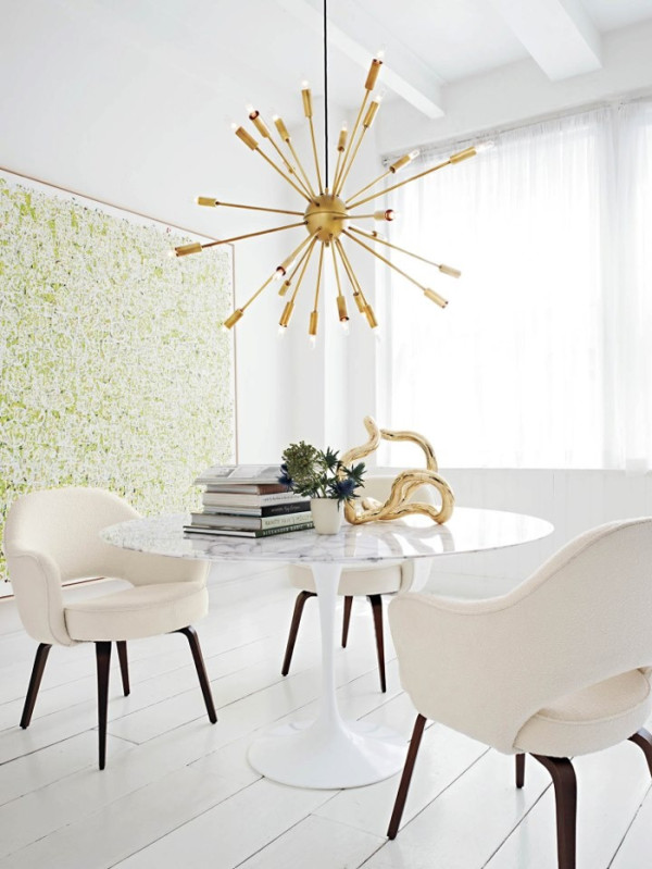 Dining Room Chandelier Brass