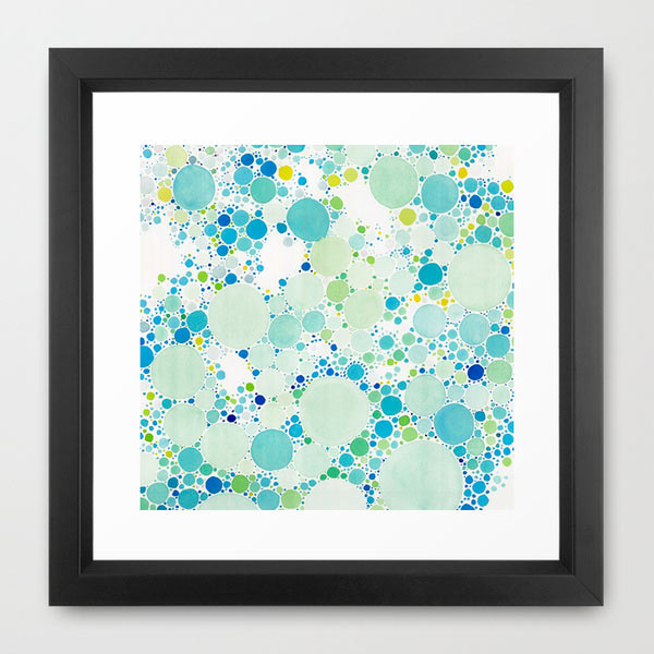 watercolor-dots-framed-art
