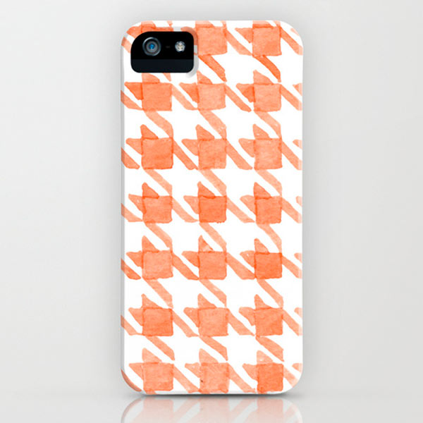 watercolor-houndstooth-iphone-case
