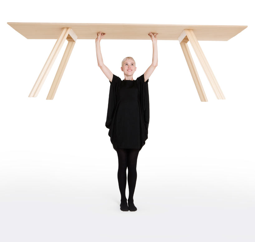 Has Benjamin Hubert Designed The World's Lightest Dining Table?