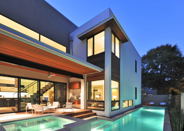 An L Shaped House In Houston Texas Design Milk