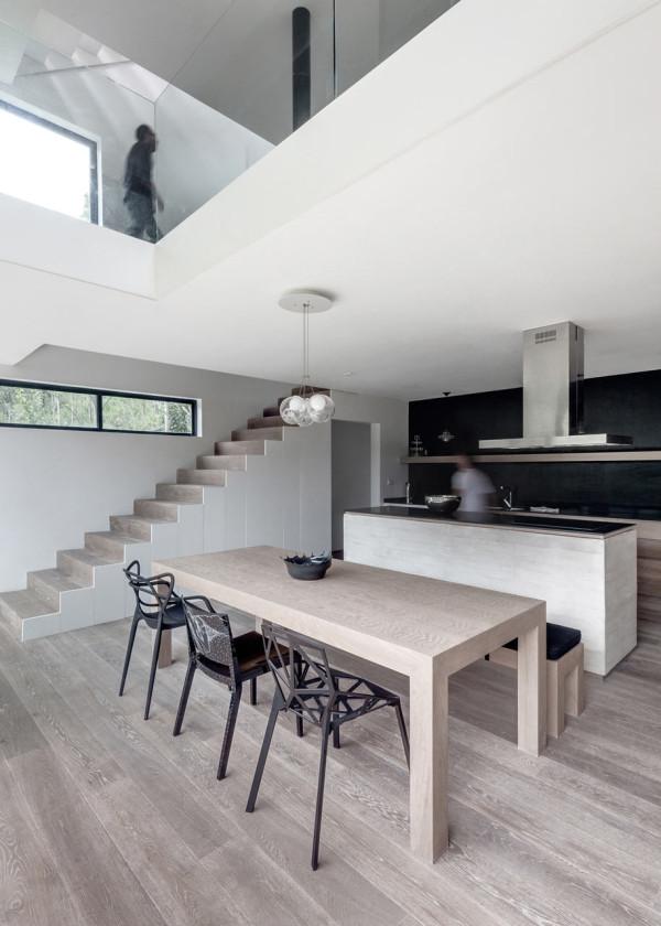 A stacked module house with a perforated facade design milk - Diseno interior casas ...