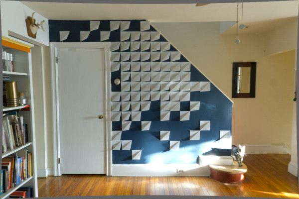 Make it Modern: DIY 3D Felt Wall Panels in main interior design home furnishings art  Category