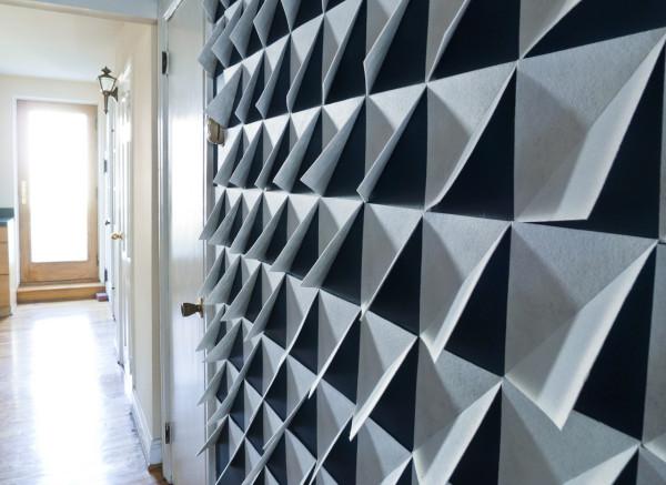 DIY 3D Felt Wall Panels