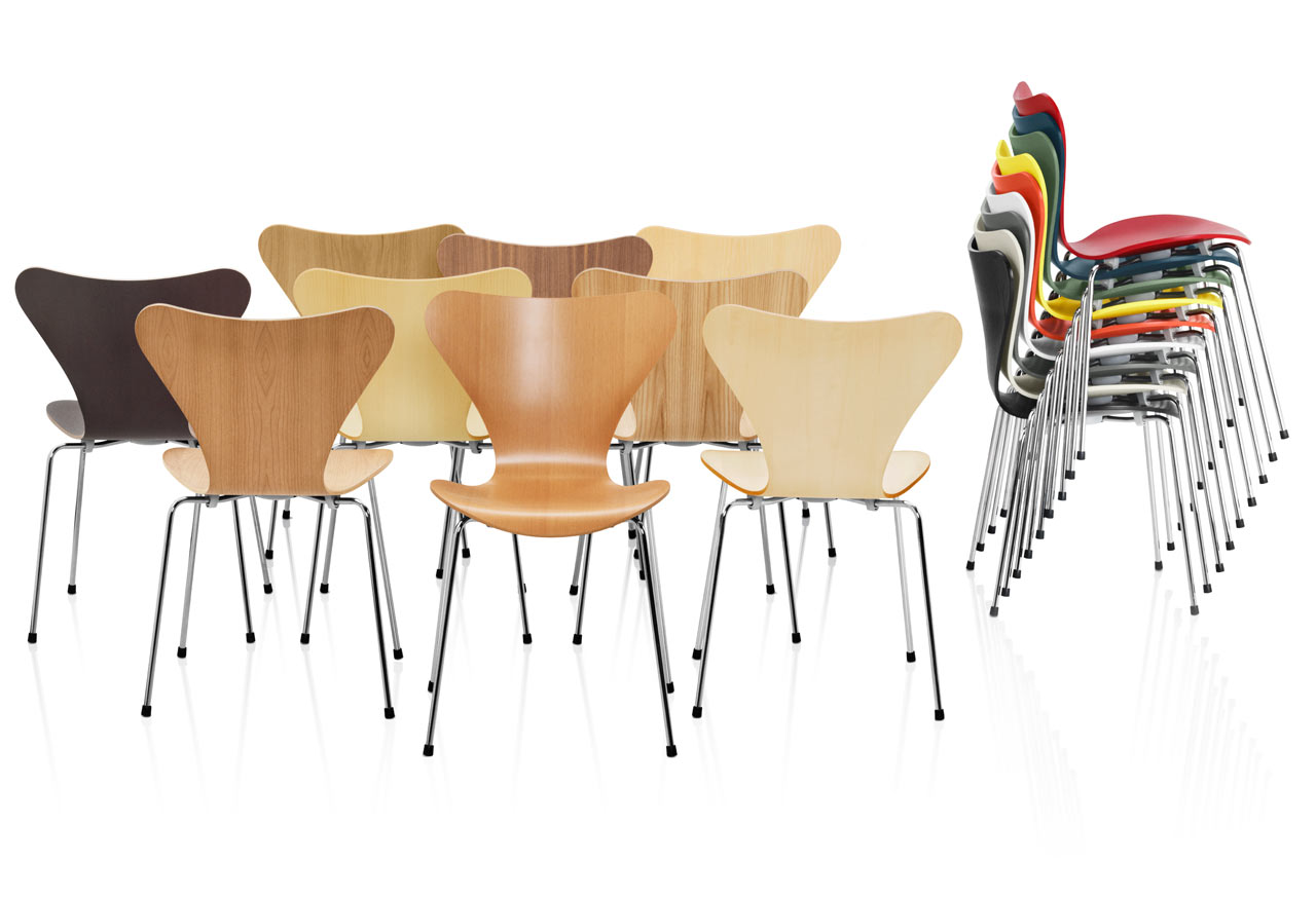 Series 7 chairs by arne jacobsen design milk for Chaise arne jacobsen