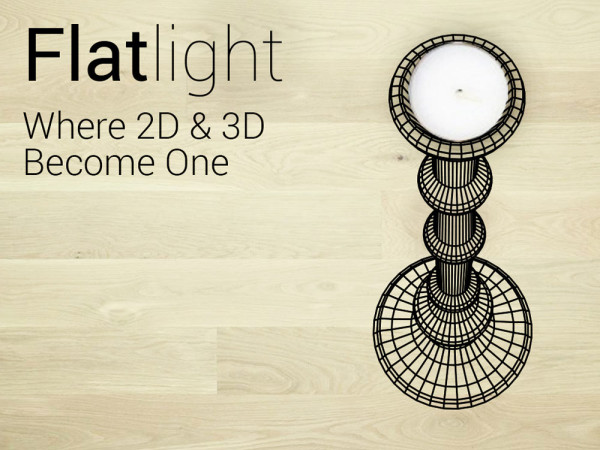 Flatlight   A Candleholder That Looks 3D in main home furnishings  Category