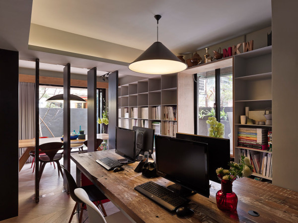 Taipei apartment becomes a design studio residence for Studio interior design brescia