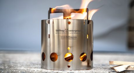 Collapsible Stainless Steel Camp Stove By Kent Hering