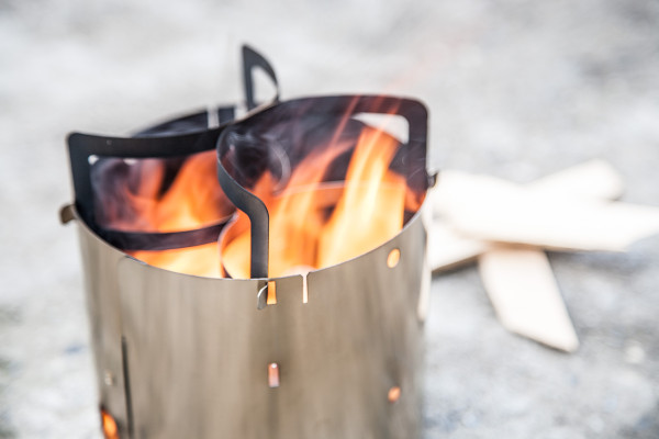 Collapsible Stainless Steel Camp Stove By Kent Hering in technology main  Category