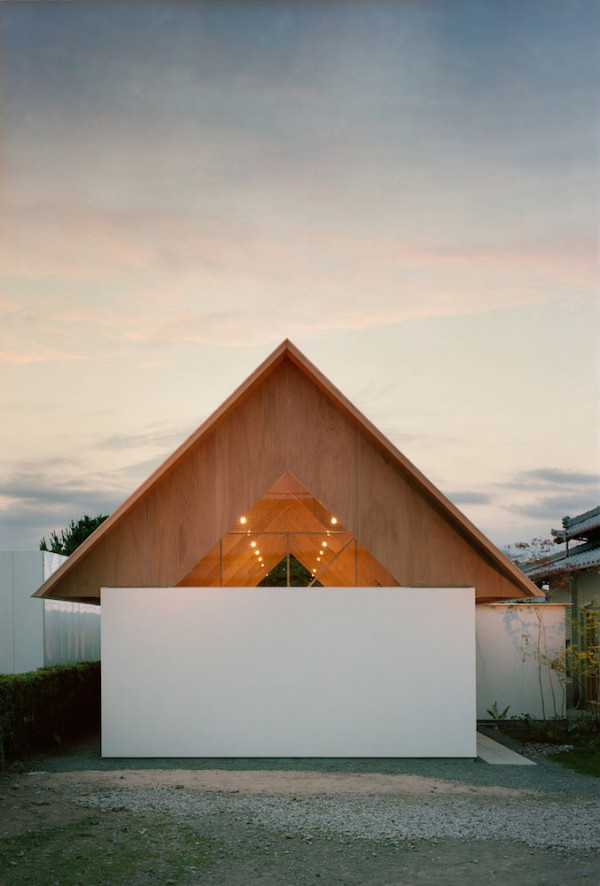 Two Story Triangular Addition Built for Quiet and Relaxation in main architecture  Category