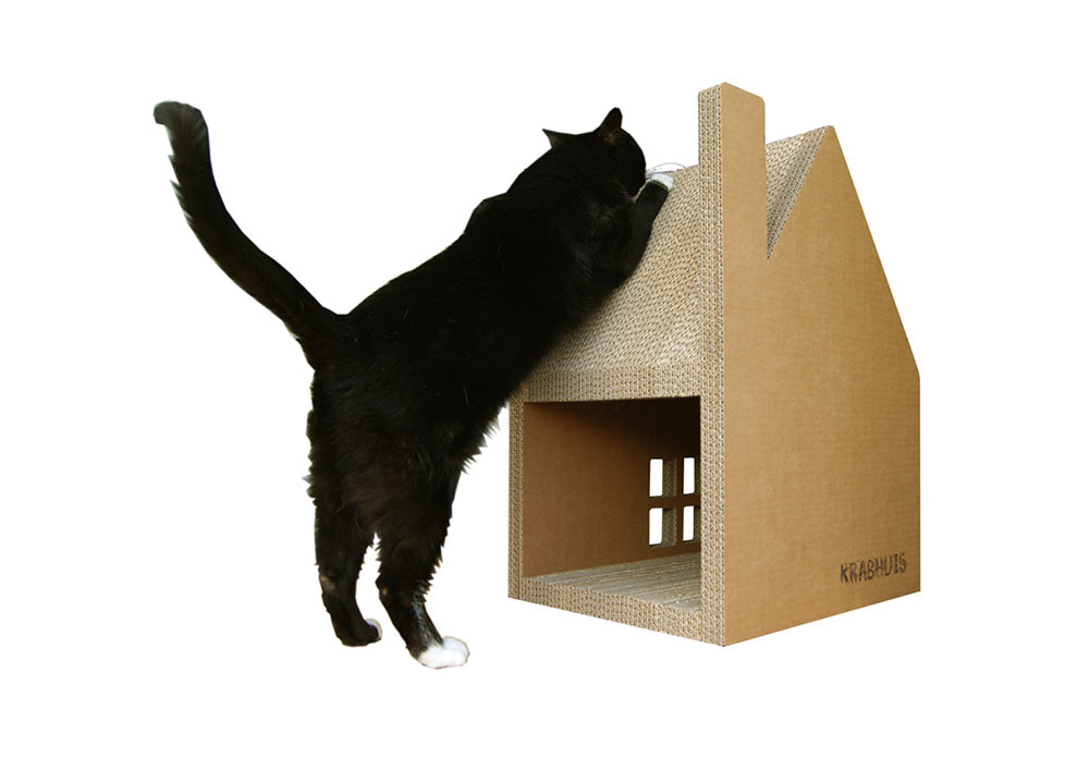 Krabhuis A Cardboard House For Cats To Scratch Design Milk