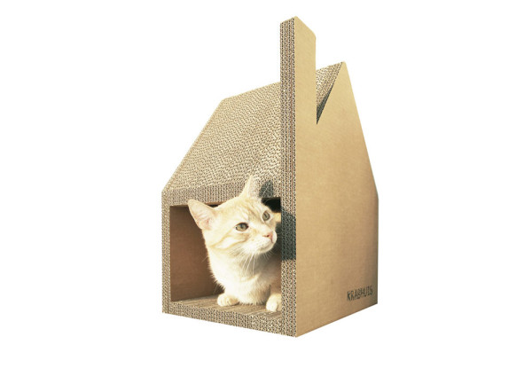 Krabhuis: A Cardboard House for Cats to Scratch in main home furnishings architecture  Category
