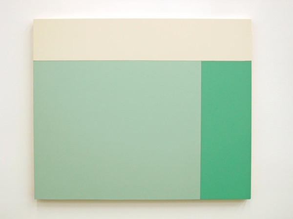 C2 (White, Tamorae, Aqua Marine), 2013, Acrylic house paint on panels