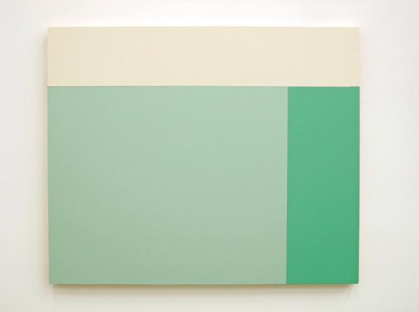 C2 (White, Tamorae, Aqua Marine), 2013, Acrylic house paint on panels