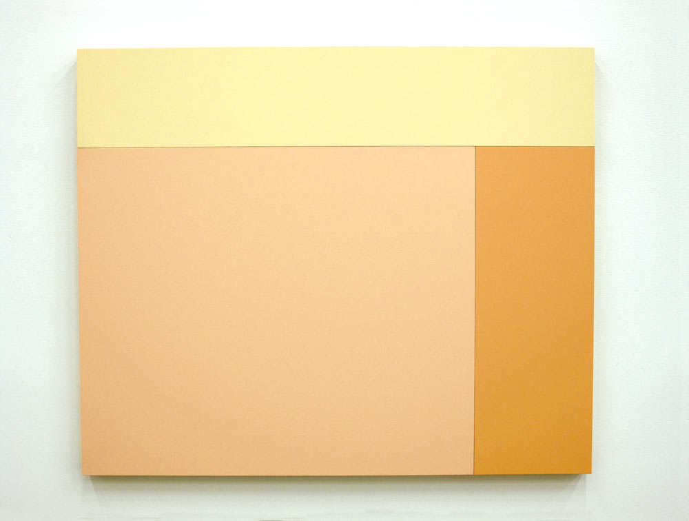 C3 (Cream, Bisque, Apricot), 2013, Acrylic house paint on panels