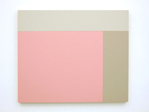 C4 (Cloud, Moleskin, Rose), 2013, Acrylic house paint on panels