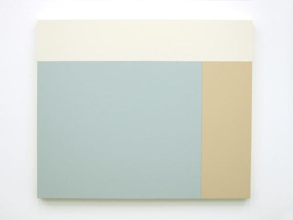 C5 (White, Heather, Iris), 2013, Acrylic house paint on panels