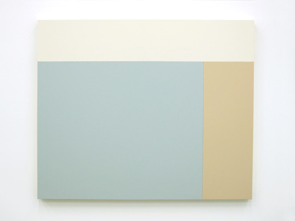 C5 (White, Heather, Iris), 2013, Acrylic house paint on panels